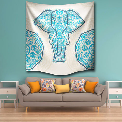 Elephant In Lotus Tapestry