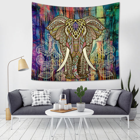 Tribal Elephant Tapestry