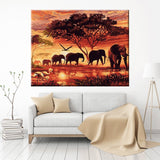 Elephant Sunset DIY Paint Kit