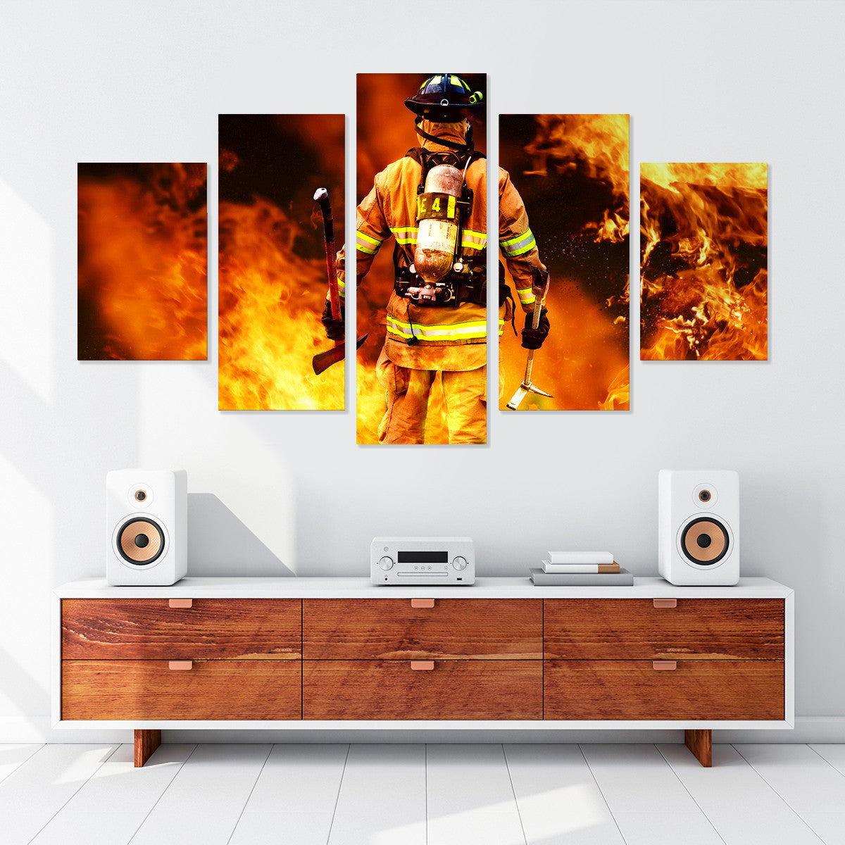 Fire Warrior 5 Piece Canvas