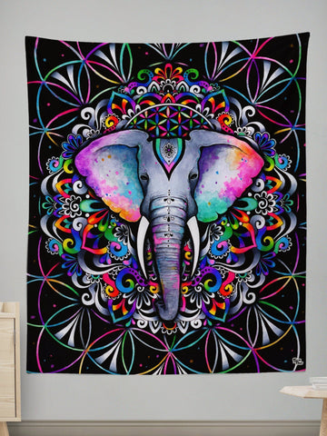 Elephant Flower Tapestry