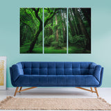 Green Forest 3 Piece Canvas