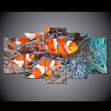Clown Fishes 5 Piece Canvas