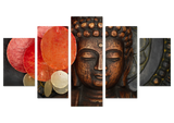 Limited Edition Buddha Intellect 5 Piece Canvas