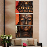Buddha Intellect 3 Piece Canvas