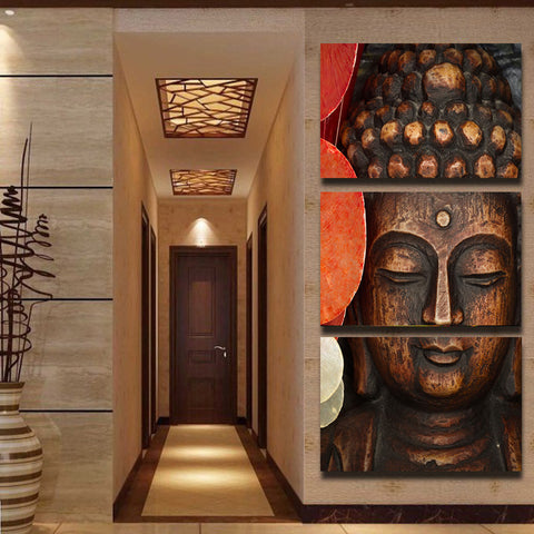 Limited Edition Buddha Nature 3 Piece Canvas