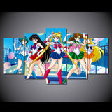 Sailor Moon Gather 5 Piece Canvas