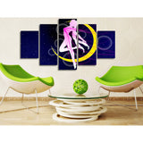 Sailor Moon Transform 5 Piece Canvas