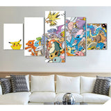 Complete Pokedex 5 Piece Canvas