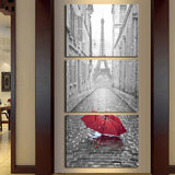 Lonely Street 3 Piece Canvas