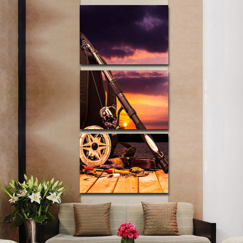 Blue Sky 3 Piece Canvas