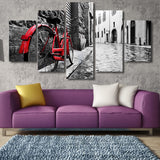 Limited Edition Bicycle Love 5 Piece Canvas