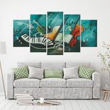 Musical Instruments 5 Piece Canvas