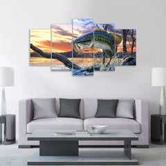 Majestic Statue of Liberty 5 Piece Canvas
