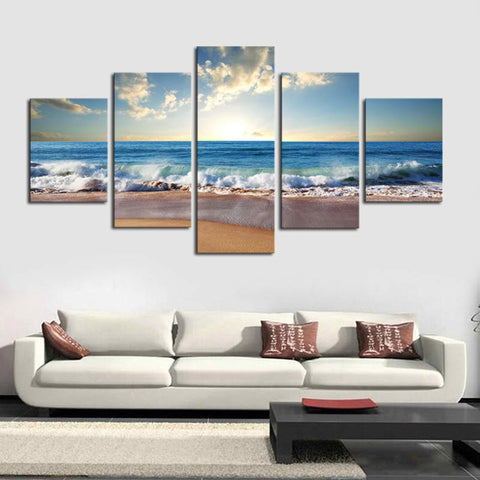 Lion Tiger Glow 5 Piece Canvas