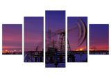 Pumpjack Motion 5 Piece Canvas
