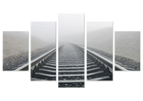 Railway Mist 5 Piece Canvas
