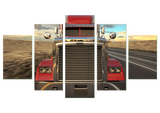 Truck Zoom 5 Piece Canvas