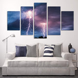Lightning Bolt 5 Piece Canvas