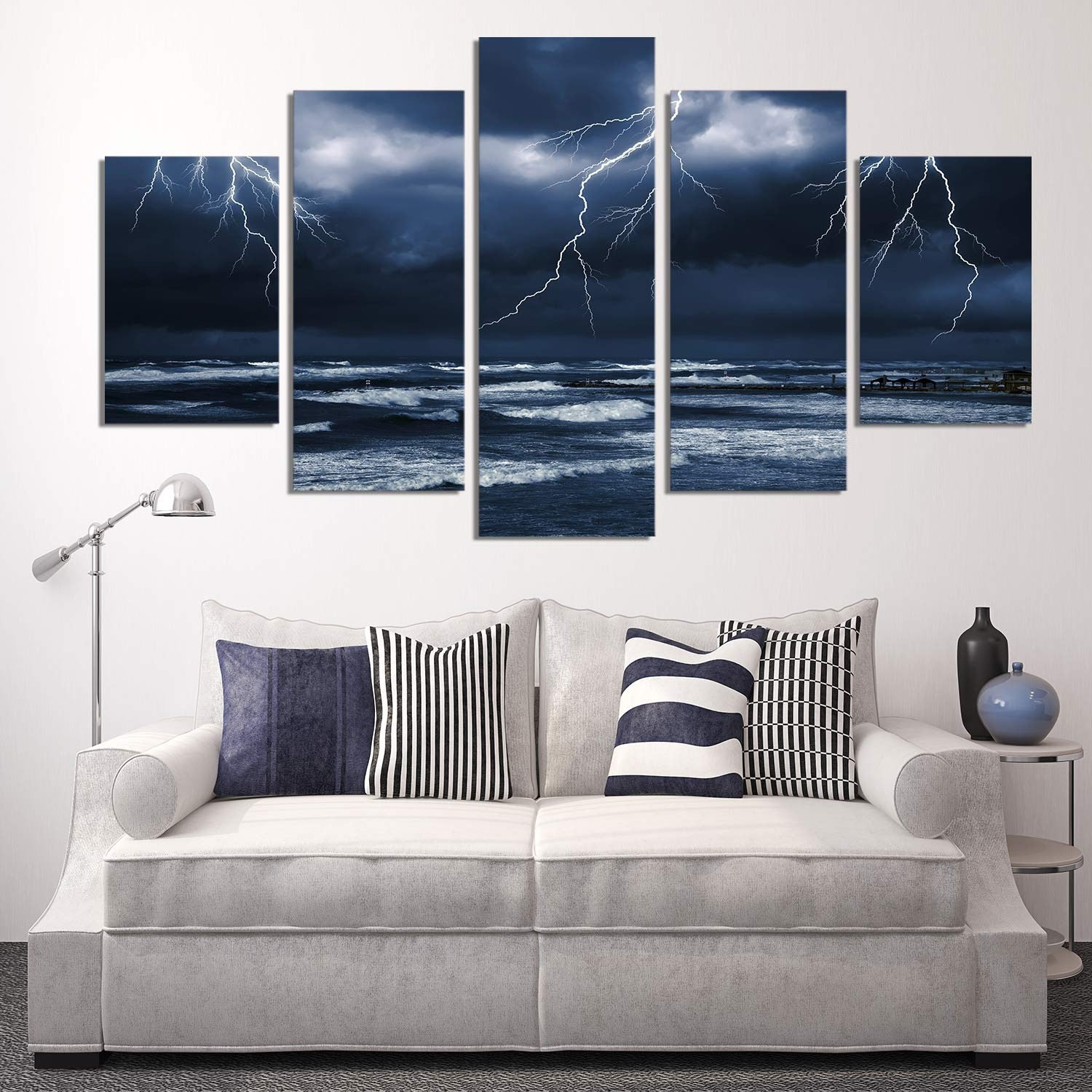 Storm By The Sea 5 Piece Canvas