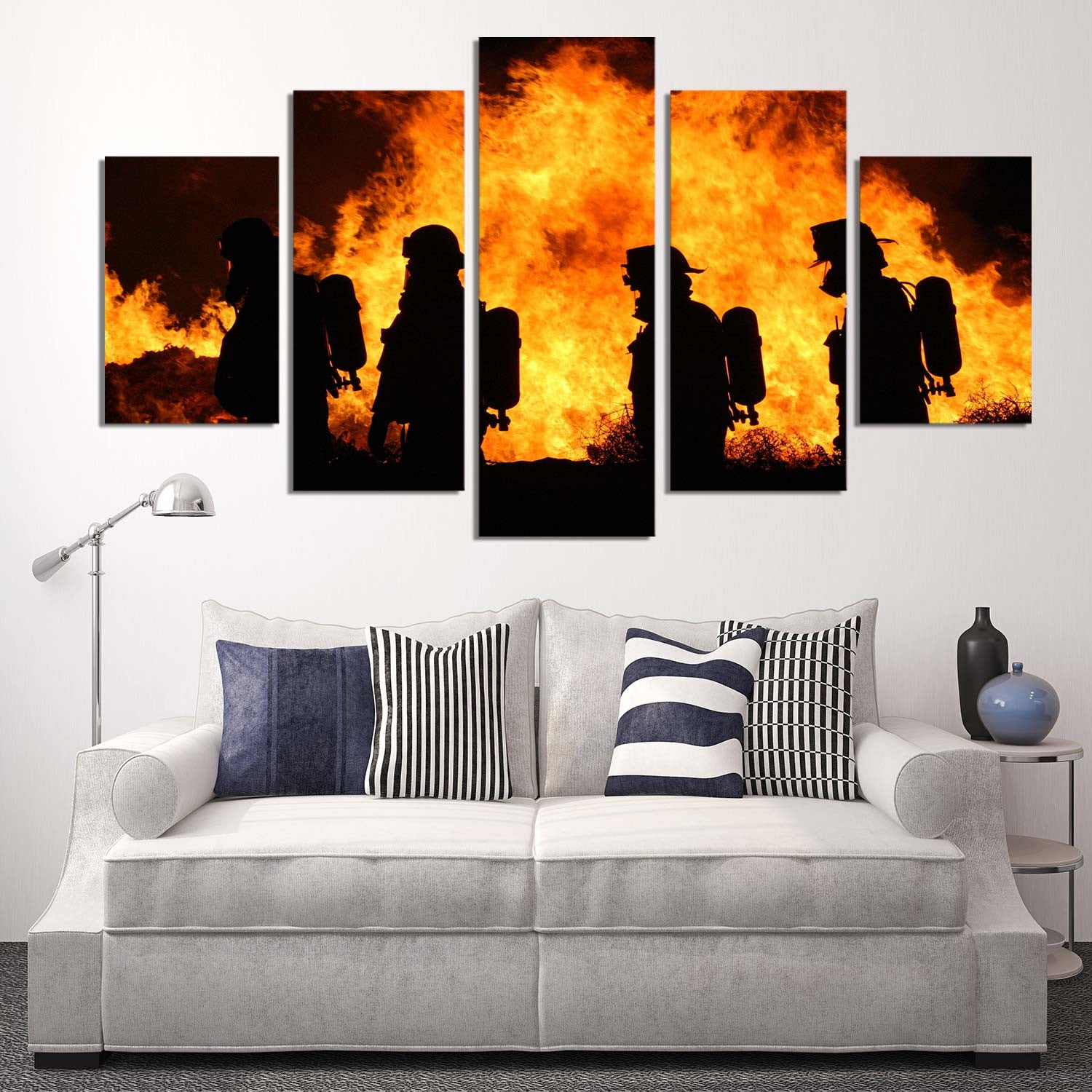 Fearless Firemen 5 Piece Canvas
