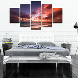 Orange Skies 5 Piece Canvas