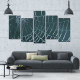 Spiderweb Crystals 5 Piece Canvas