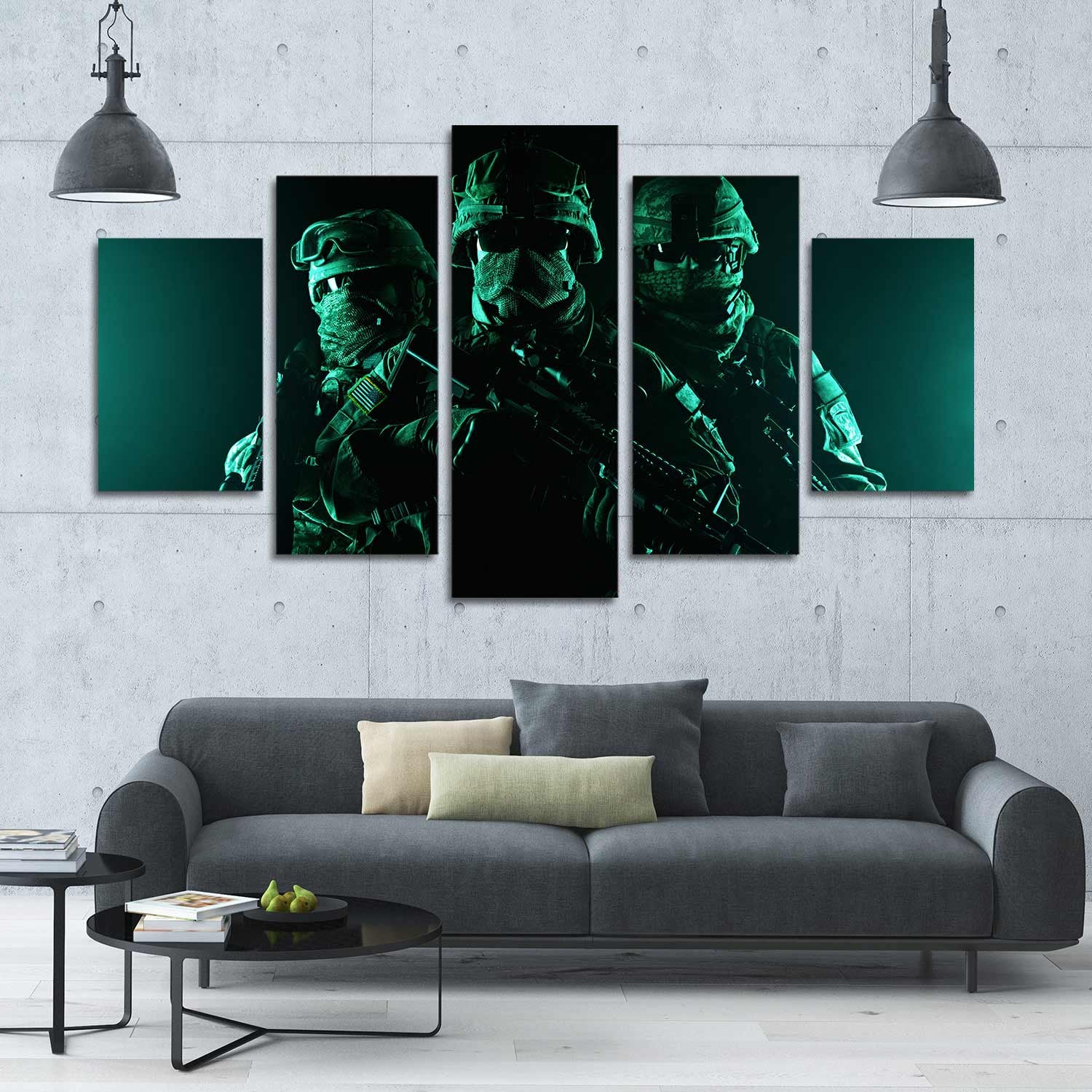 Covert Soldiers 5 Piece Canvas