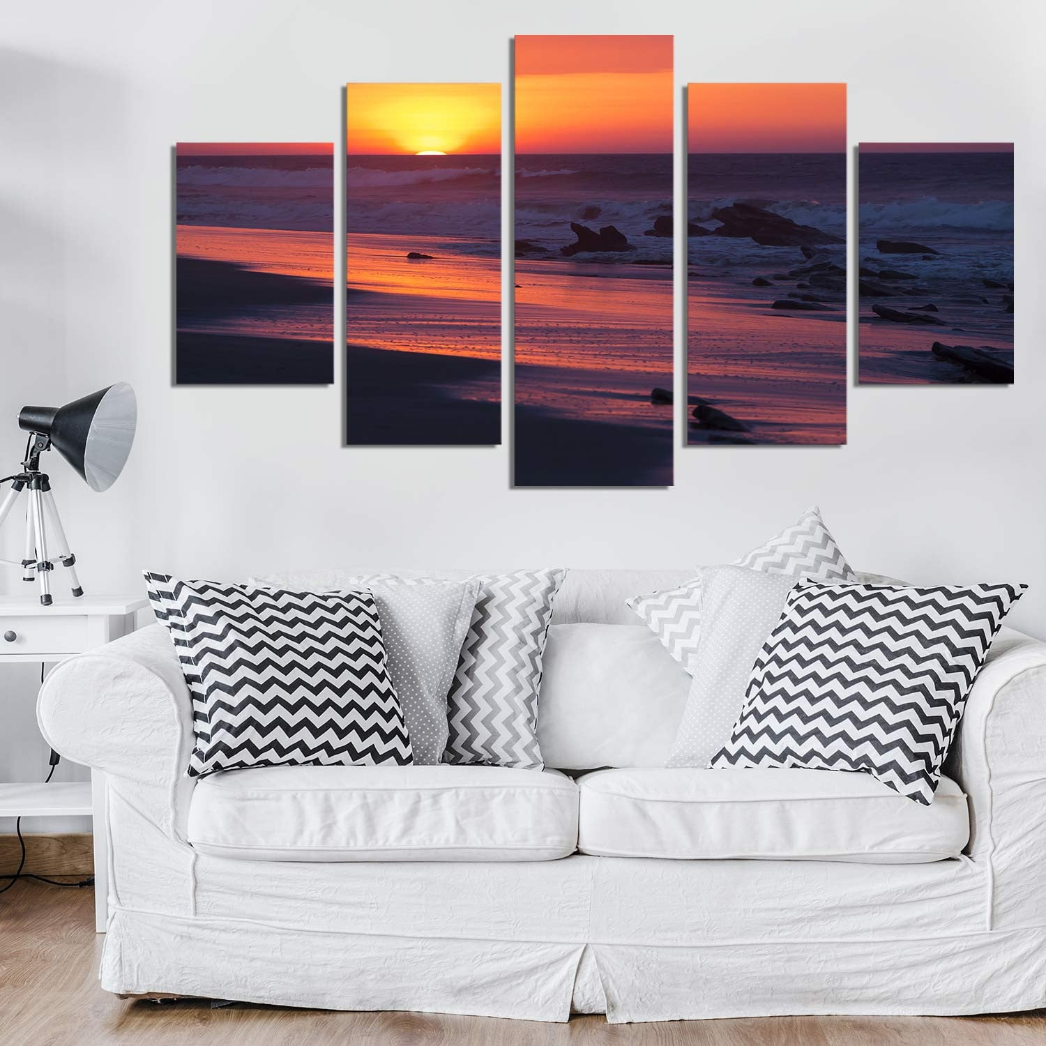 Red Heavens 5 Piece Canvas