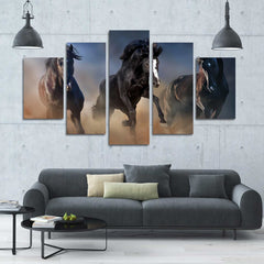 Deer Battle 5 Piece Canvas