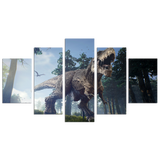 Dino Roar 5 Piece Canvas