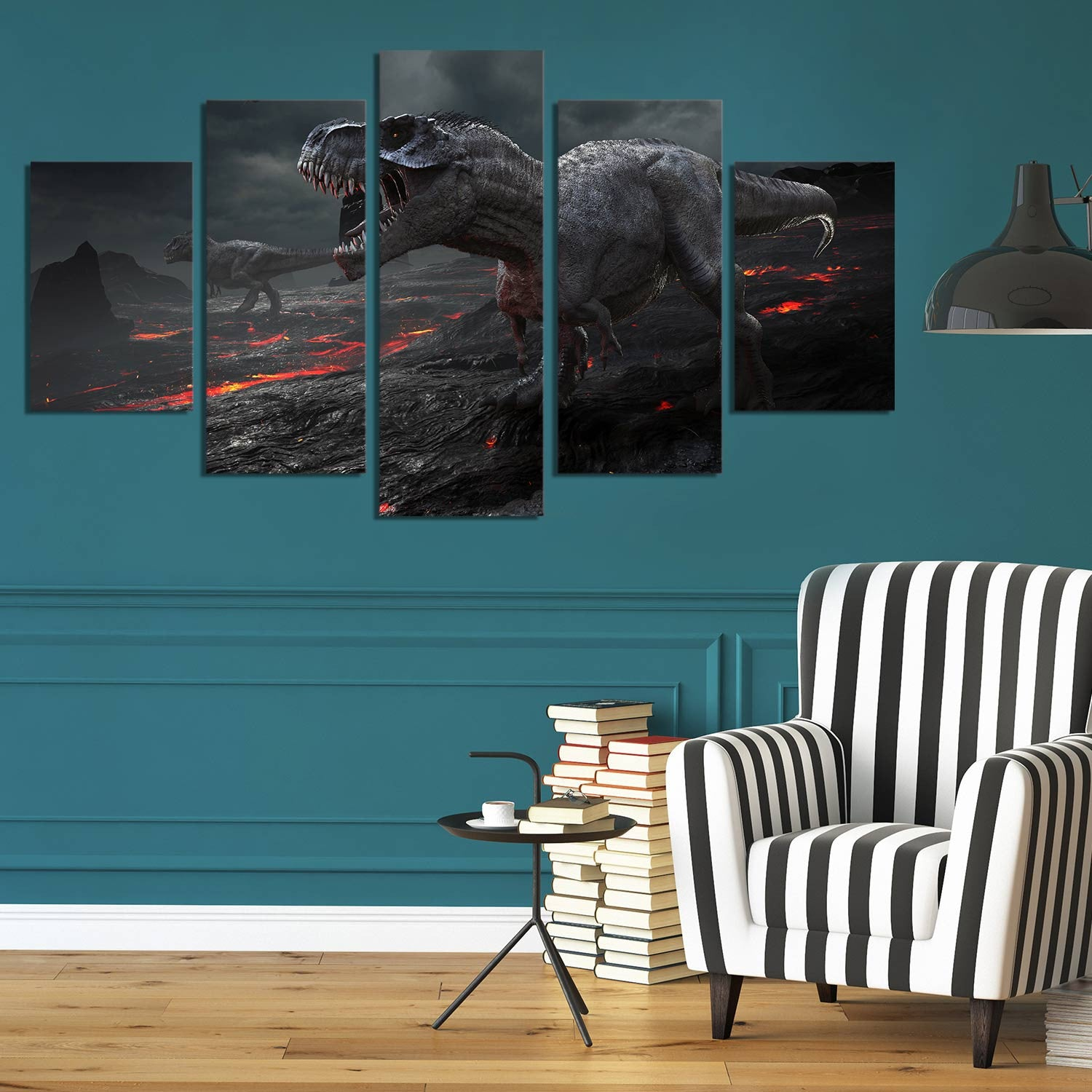 Dinosaur Extinction 5 Piece Canvas