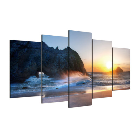 Lovers in the Beach 5 Piece Canvas