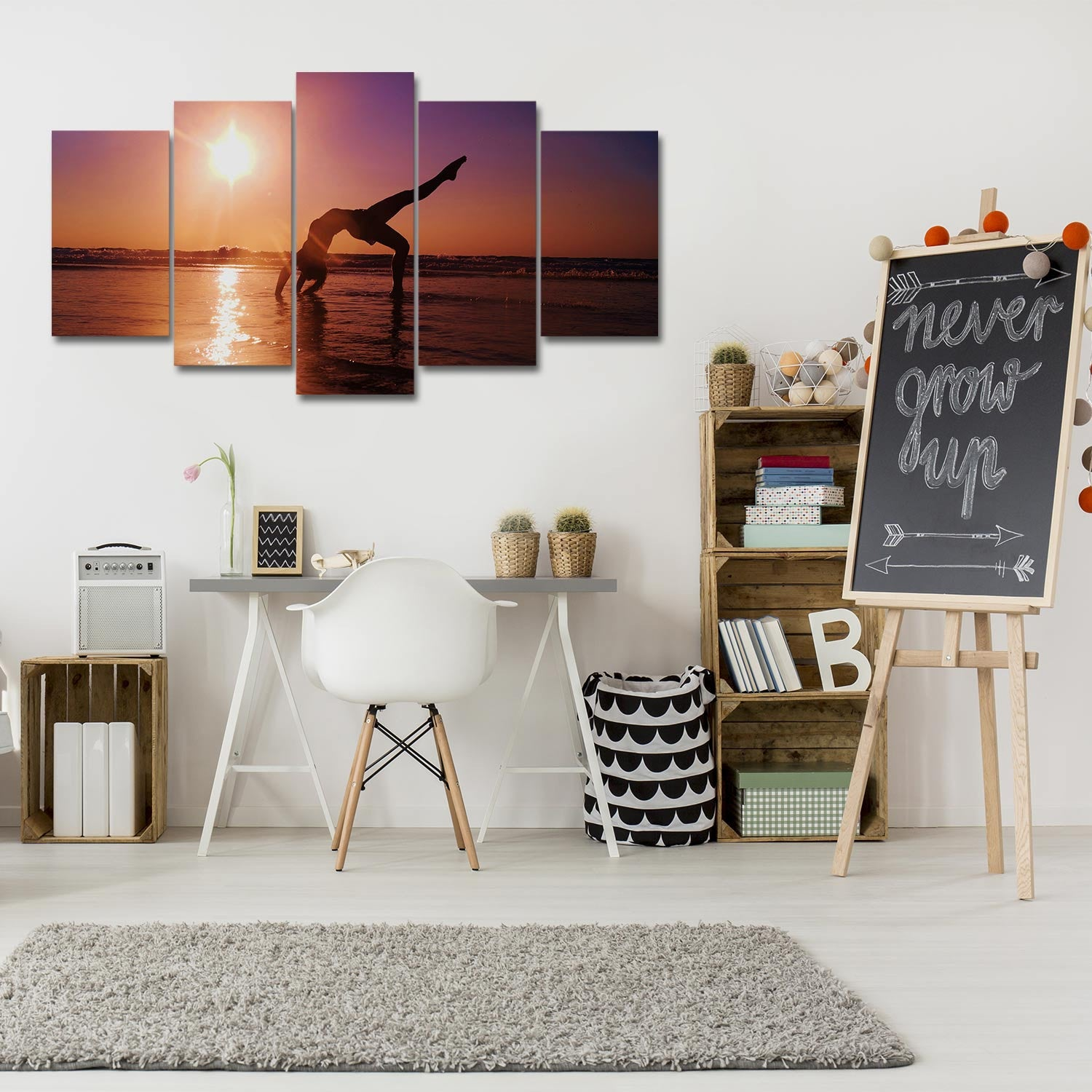 Calming Moment 5 Piece Canvas