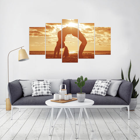 Tigress and Cubs 5 Piece Canvas
