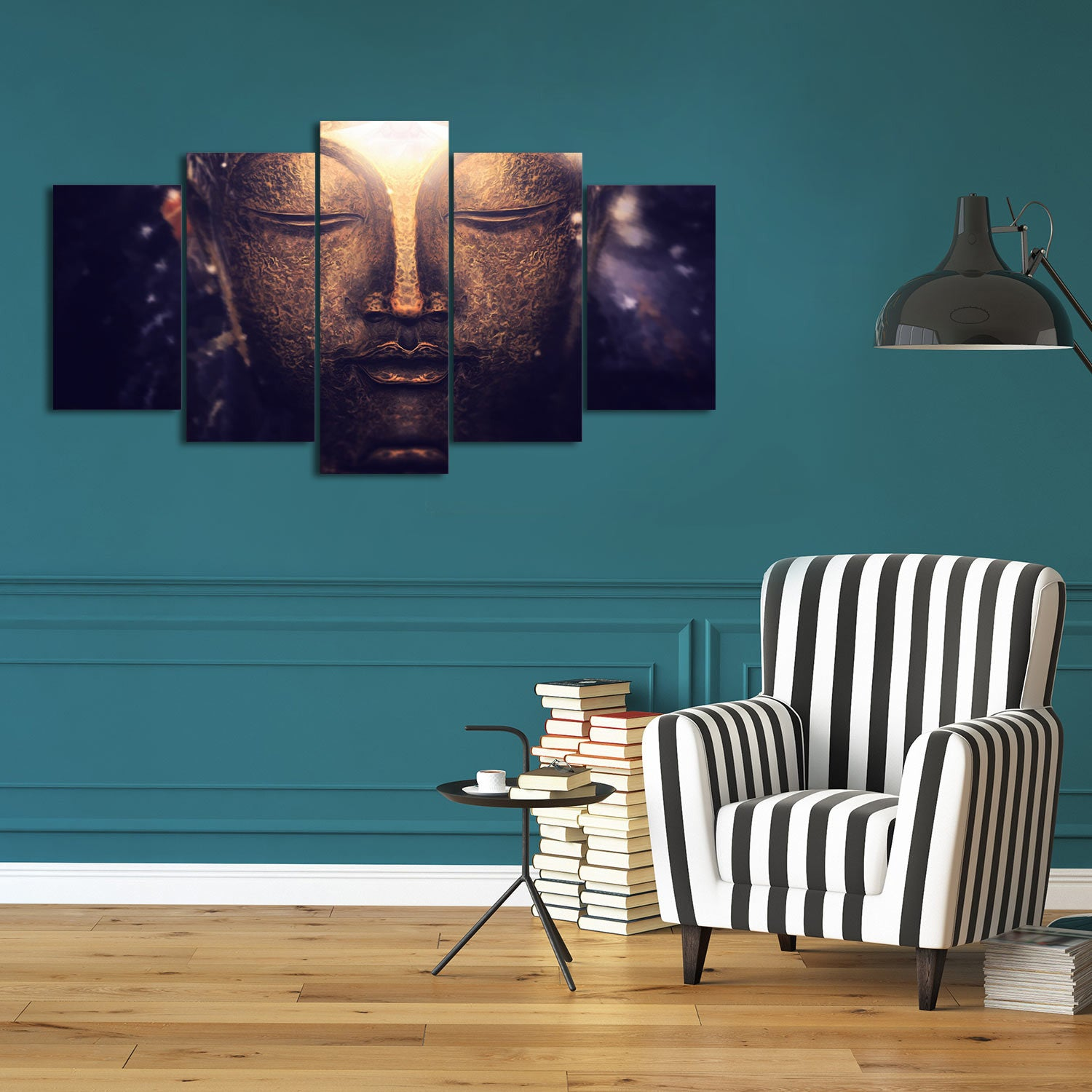 Buddha Enlighten 5 Piece Canvas