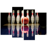 Bowling 4 Piece Canvas