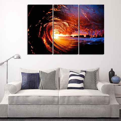 Magnificent Waterfalls 3 Piece Canvas