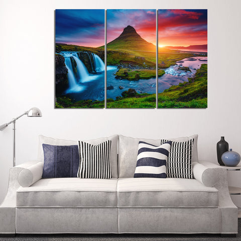 Calming Nature 3 Piece Canvas