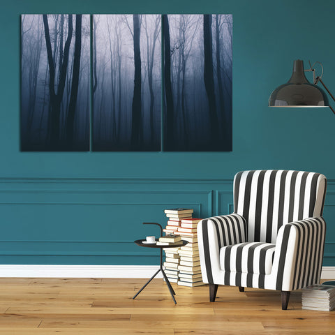 Wave Convergence 3 Piece Canvas