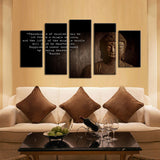 Buddha Happiness 5 Piece Canvas
