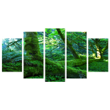Forest Greenery 5 Piece Canvas