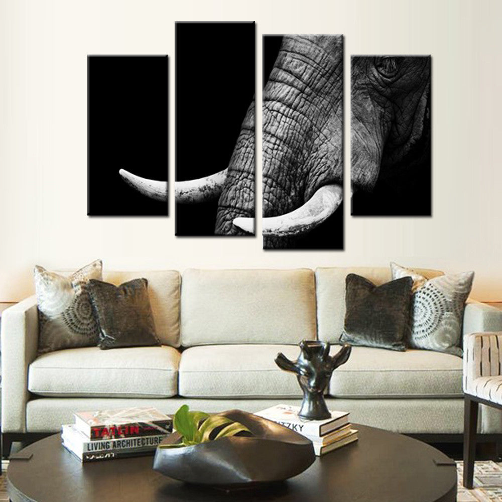 Elephant Tusk 4 Piece Canvas