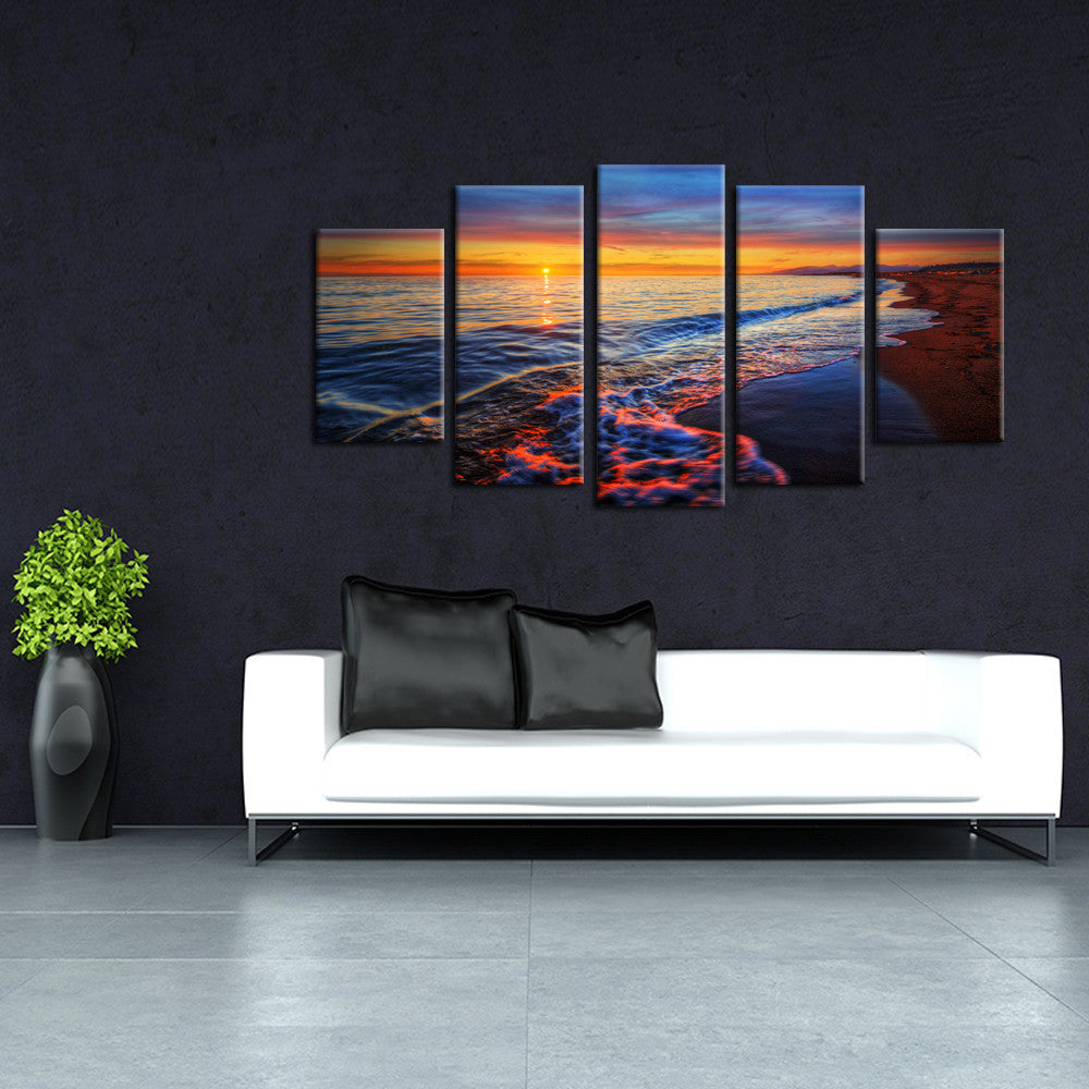 Golden Hour 5 Piece Canvas