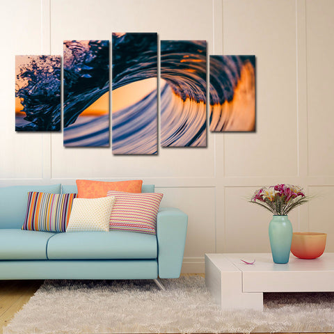 Map Glimmer 5 Piece Canvas