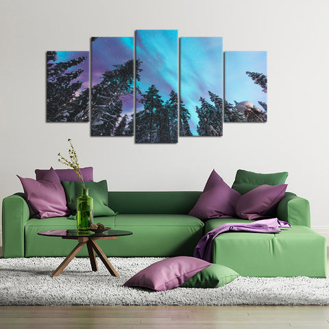 Gentle Wave 5 Piece Canvas