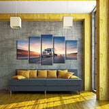 Highway Speed 5 Piece Canvas