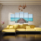 Boardwalk Blue 5 Piece Canvas