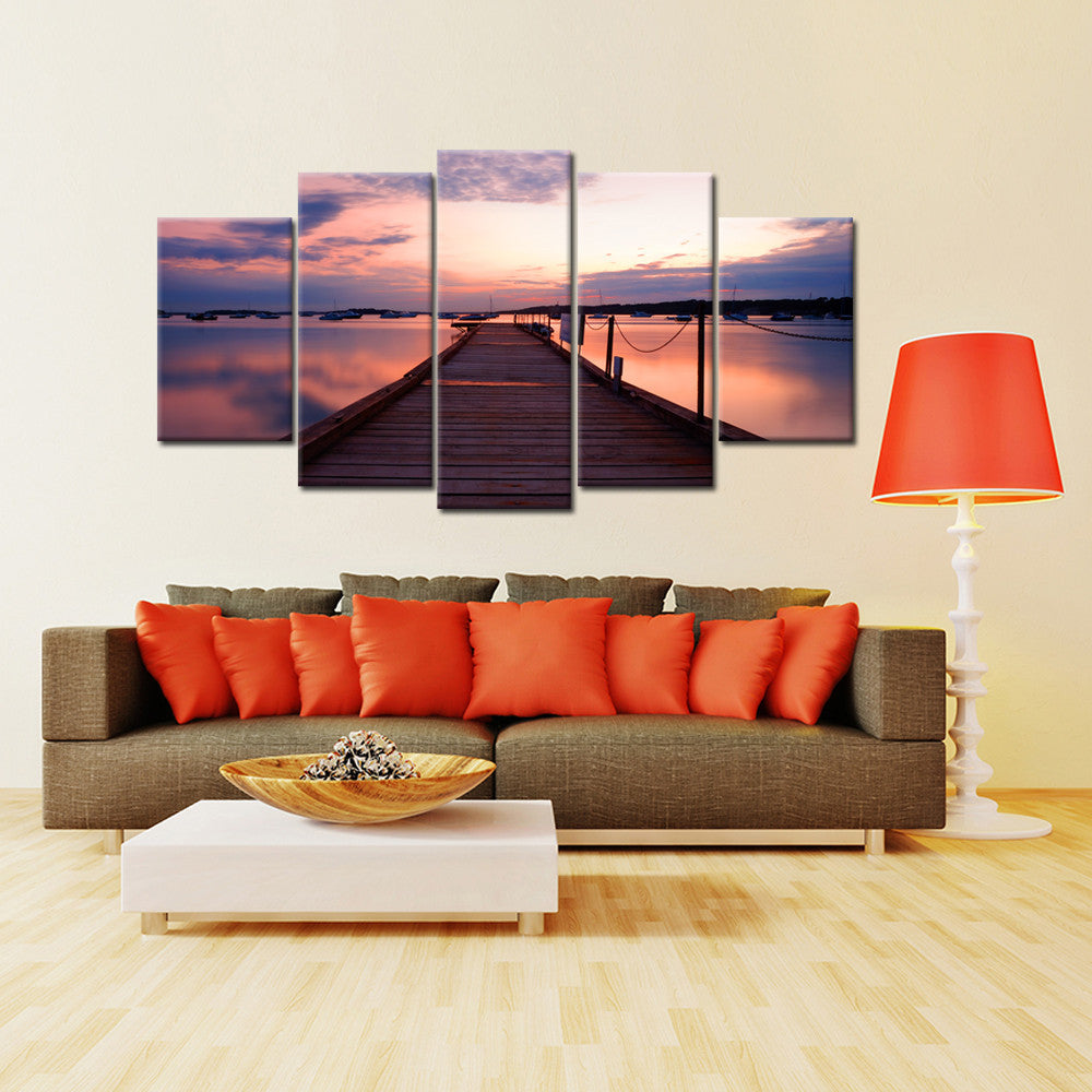 The Docks 5 Piece Canvas