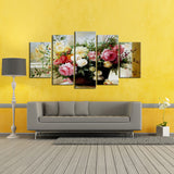 Flower Basket 5 Piece Canvas